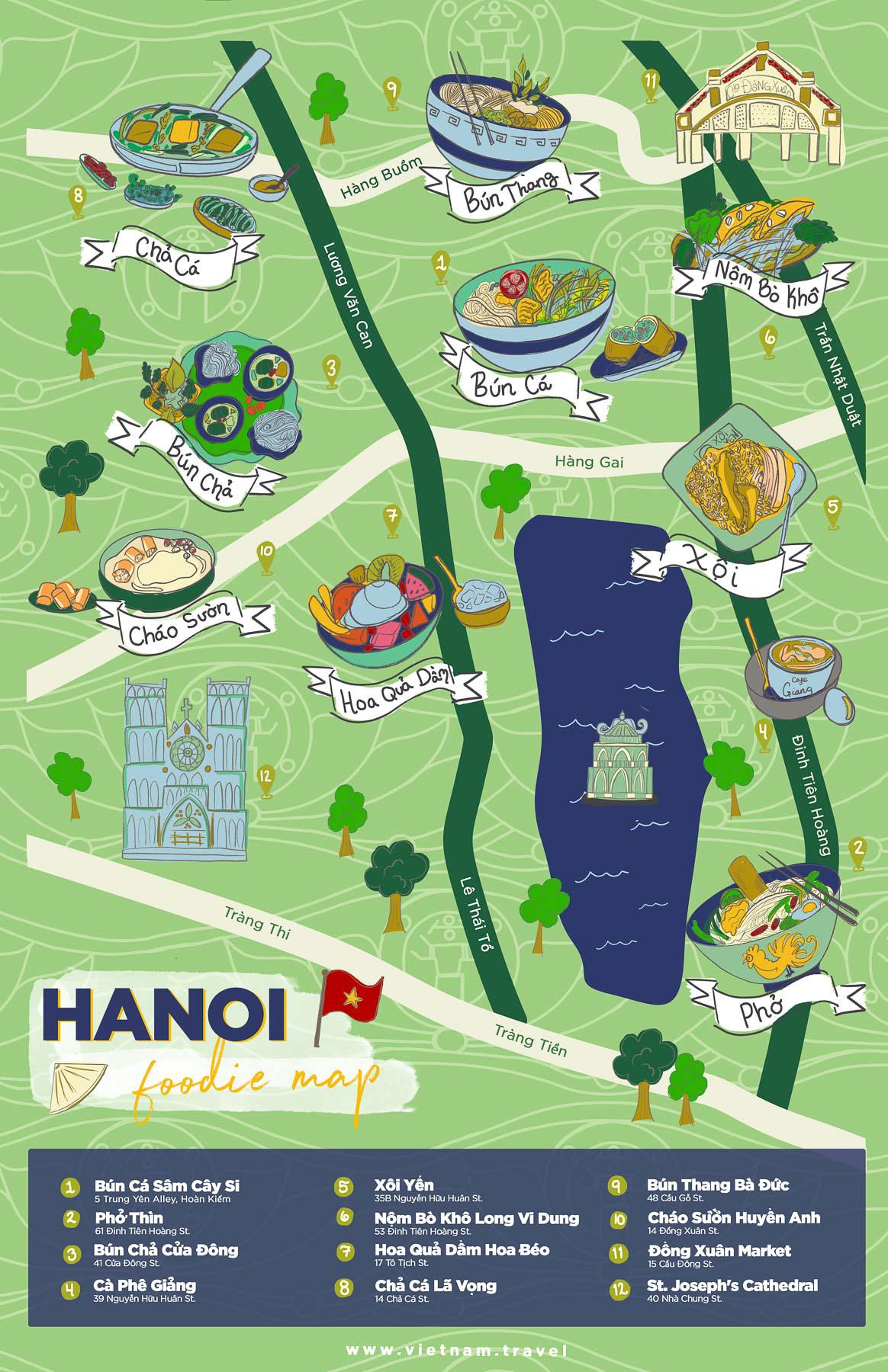 hanoi foodie map