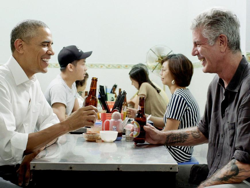 anthony bourdain obama
