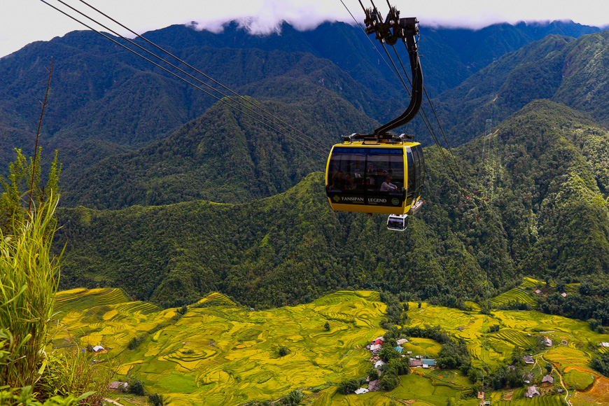 cable car ride fansipan