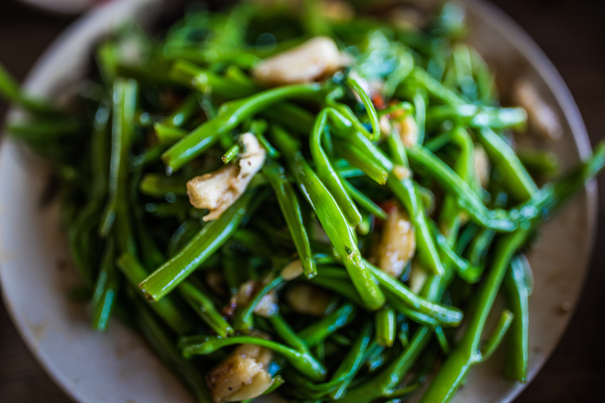 stir fried greens with garlic