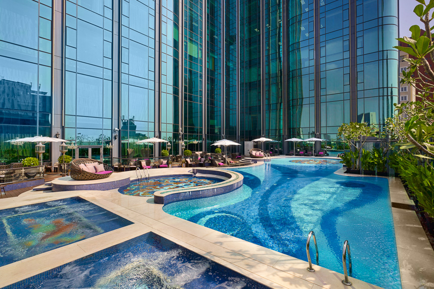 best hotel swimming pool ho chi minh city