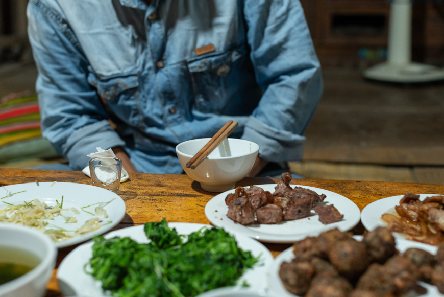 Home cooking in Pu Luong